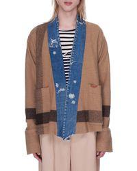 Greg Lauren - Striped Blanket Boxy Kimono - Lyst