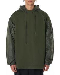 Juun.J - Bomber Sleeve Hooded Pullover - Lyst