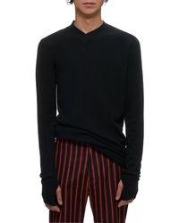 Boris Bidjan Saberi Knitted Cashmere Sweater - Black