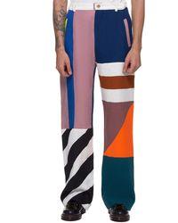 Walter Van Beirendonck Howl-flag Pants - Multicolor
