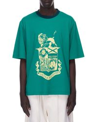Wales Bonner Johnson Crest Graphic Tee - Green