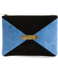 Marie Marot - Colour Blocked Reverse Leather Clutch - Lyst