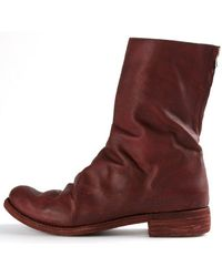 A Diciannoveventitre Twisted Calf Boot - Last Pair Size 42 - Red