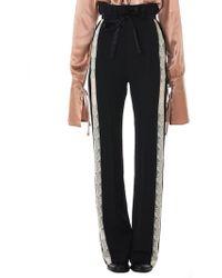 Ann Demeulemeester - Lace Stripe Trousers - Lyst