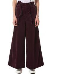 Kapital Suspender-strap Pants - Purple