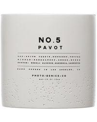 PHOTO/GENICS+CO No. 5 Pavot Concrete Candle - Multicolor