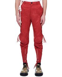 KANGHYUK Airbag Pelvic-guarded Pants - Red