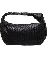 Bottega Veneta Bv Jodie Small Intrecciato Leather Hobo Bag - Black