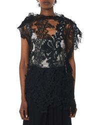 Alessandra Marchi Needle Lace Overlay - Black