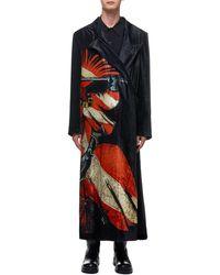 Yohji Yamamoto Knight Velvet Coat - Black