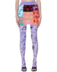 Ashley Williams Multicolor Mohair Patchwork Miniskirt - Purple