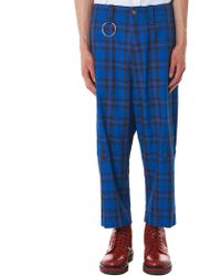 Kidill - Cropped Check Trouser - Lyst