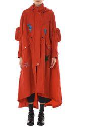 Angel Chen 'reptilian' Appliqué Windbreaker Coat - Red