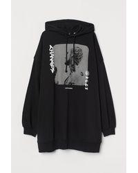 H&M Oversized Hoodie - Black