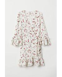 H&M - Patterned Wrap Dress - Lyst