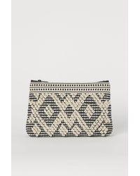 H&M Jacquard-weave Make-up Bag - Black