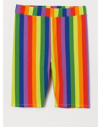 H&M Cotton Jersey Cycling Shorts - Yellow