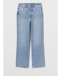 H&M Vintage Straight High Jeans - Blue
