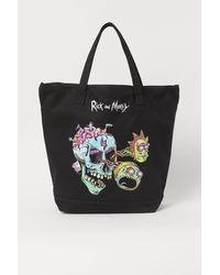H&M Tasche aus Baumwollcanvas - Schwarz