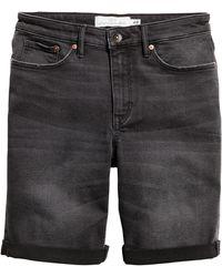 H&M Jeansshorts - Schwarz