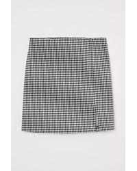 H&M Figurnaher Jerseyjupe - Schwarz