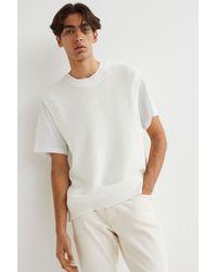 H&M Regular Fit Sweater Vest - White