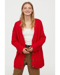 H&M - Oversized Cable-knit Cardigan - Lyst