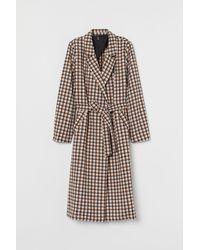 H&M Coat With A Tie Belt - Pink