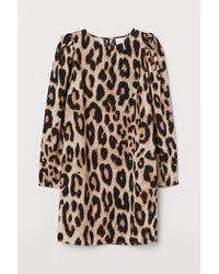 H&M - Kleid mit Puffärmeln - Lyst