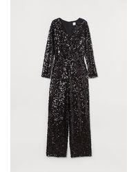 H&M Shimmering Jumpsuit - Black