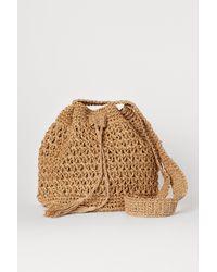H&M Straw Bucket Bag - Natural