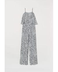 H&M Combi-pantalon en crêpe - Blanc