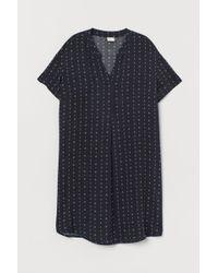 H&M Kleid mit V-Ausschnitt - Blau