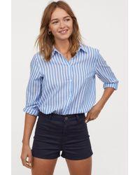 H&M - Twill Shorts High Waist - Lyst