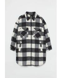 H&M H & M+ Long Shirt Jacket - Black