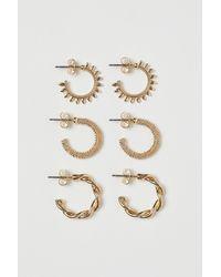 H&M 3 Paar Runde Ohrringe - Mehrfarbig