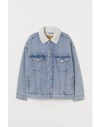 H&M Oversize-Jeansjacke - Blau
