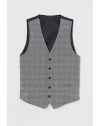 H&M Suit Waistcoat Slim Fit - Grey