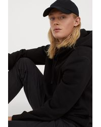 H&M Hoodie Relaxed Fit - Black