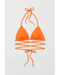 H&M Haut de maillot triangle - Orange