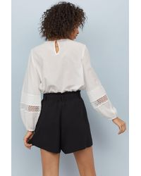 H&M - Shorts With A Tie Belt - Lyst