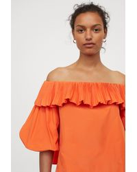 H&M Off-the-shoulder Top - Orange