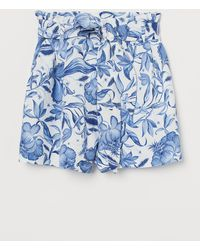 H&M Paper Bag Shorts - White