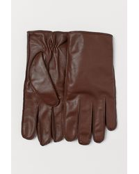 H&M Leather Smartphone Gloves - Natural