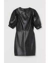 H&M Imitation Leather Dress - Black