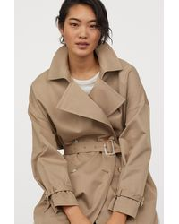 H&M Oversized Trenchcoat - Natural