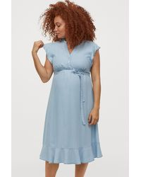 H&M Mama Lyocell Denim Dress - Blue