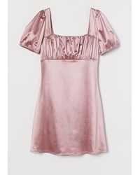 H&M Robe à manches bouffantes - Rose