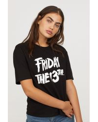H&M - T-shirt With Printed Design - Lyst