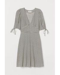 H&M - Kleid aus Lyocellmix - Lyst